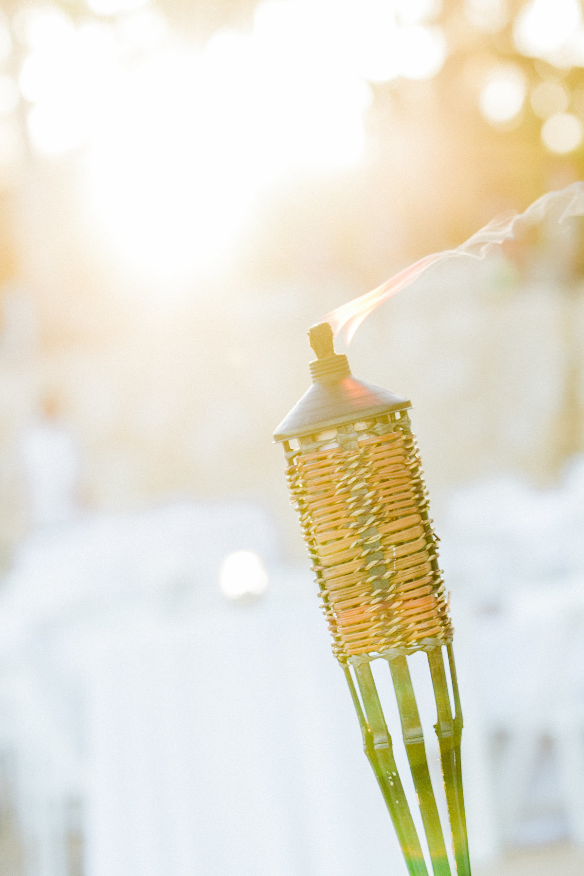 Beach Reception Tiki Torch Decor