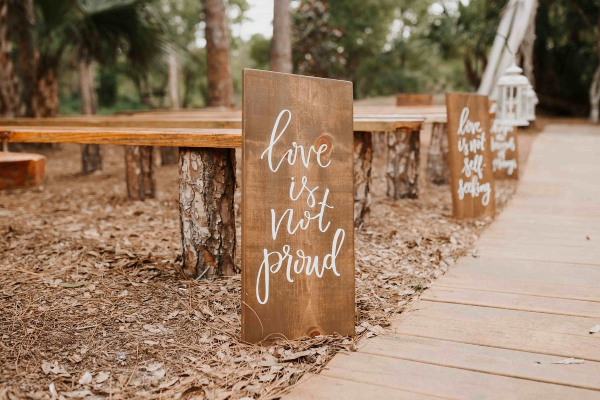 wedding sign aisle sign calligraphy-1
