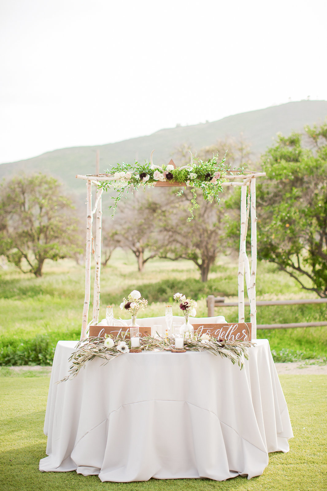 nature outdoor  wedding colorado wedding Head Table