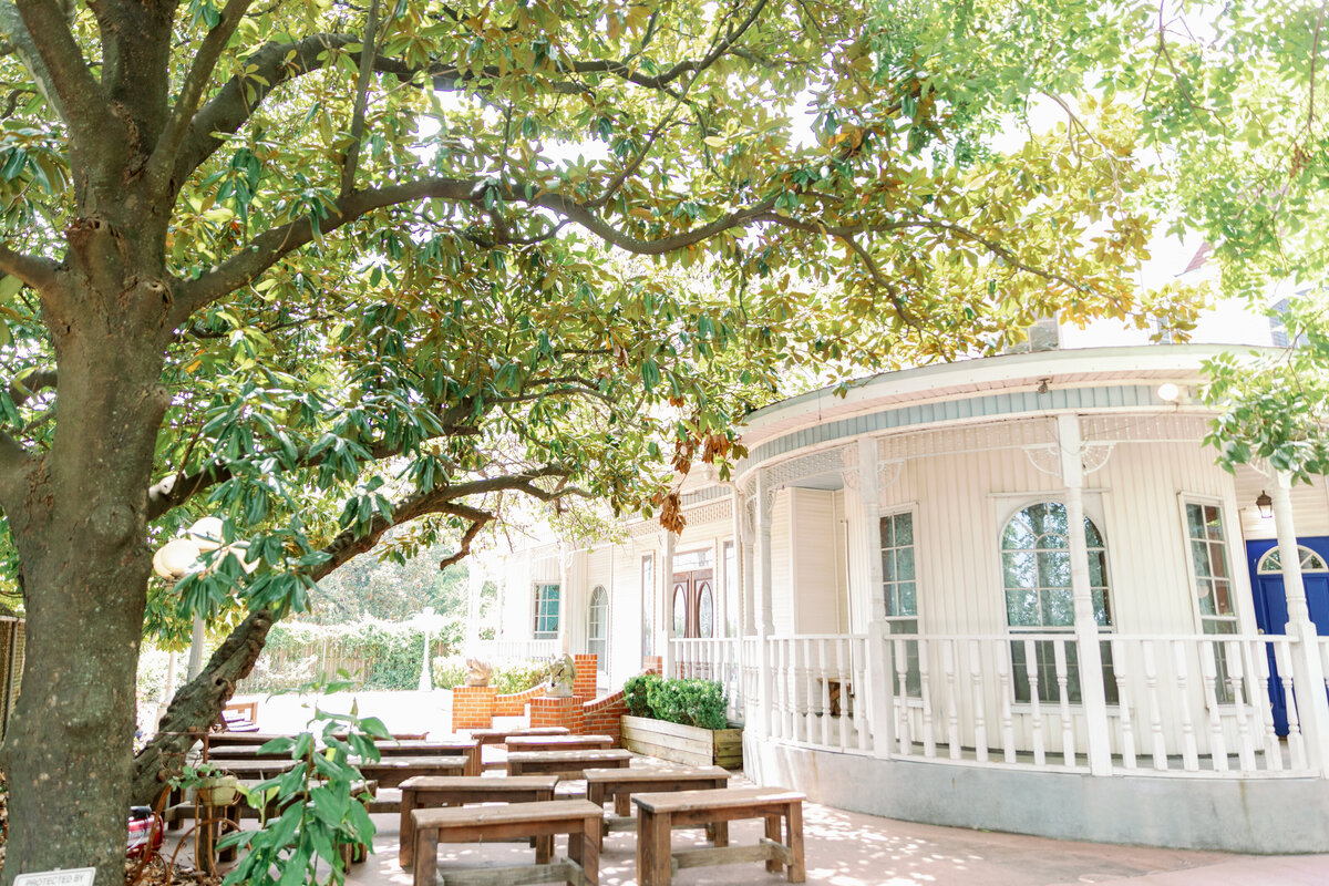 Southern Outdoor Wedding Ceremony Under Oak Trees