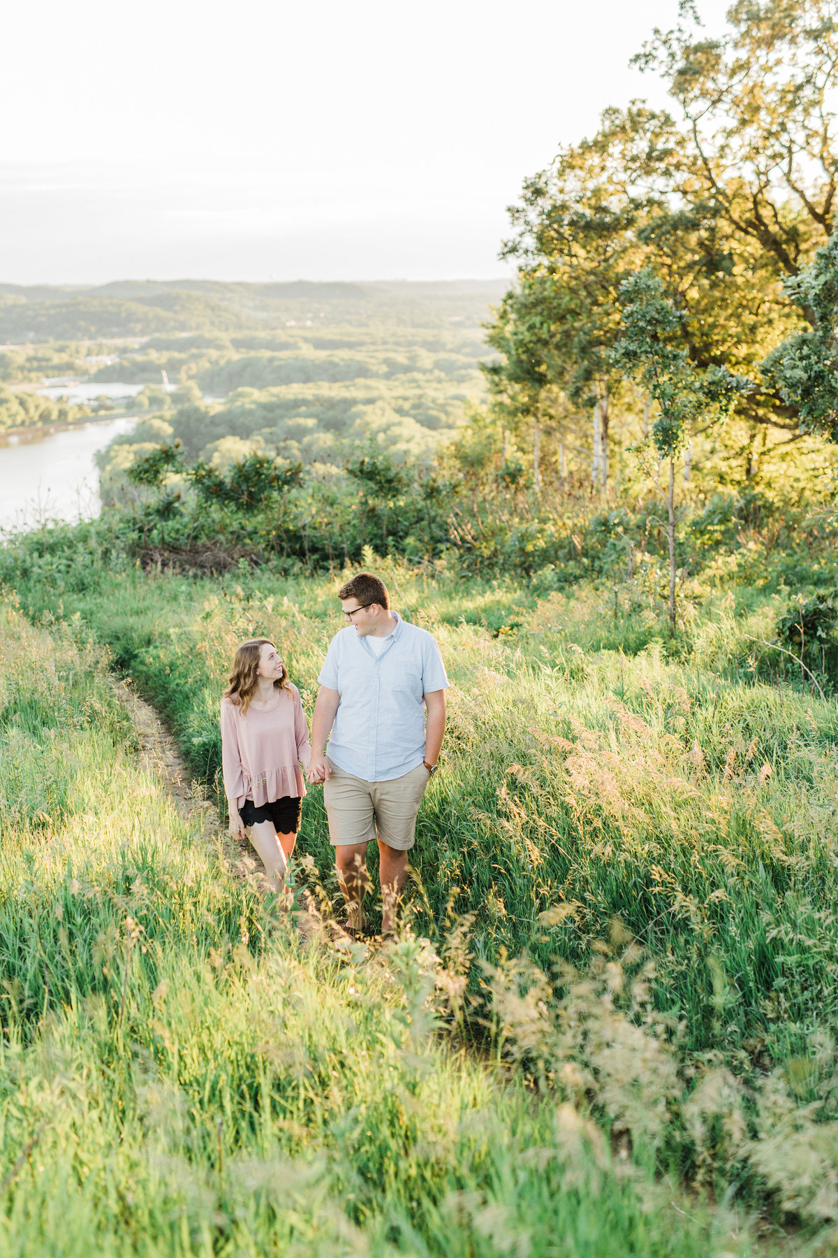 Red Wing, Minnesota Wedding Photographers Engagement Session at Barn Bluff