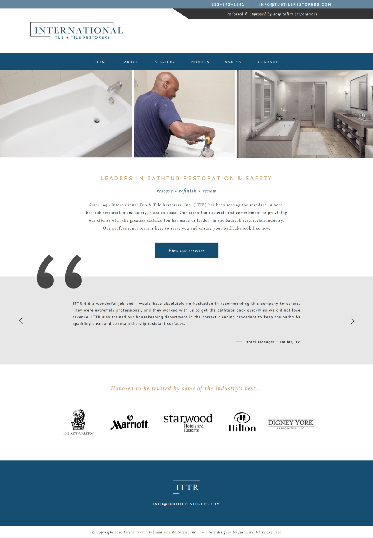 Clean, professional website design by Tribble Design Co.