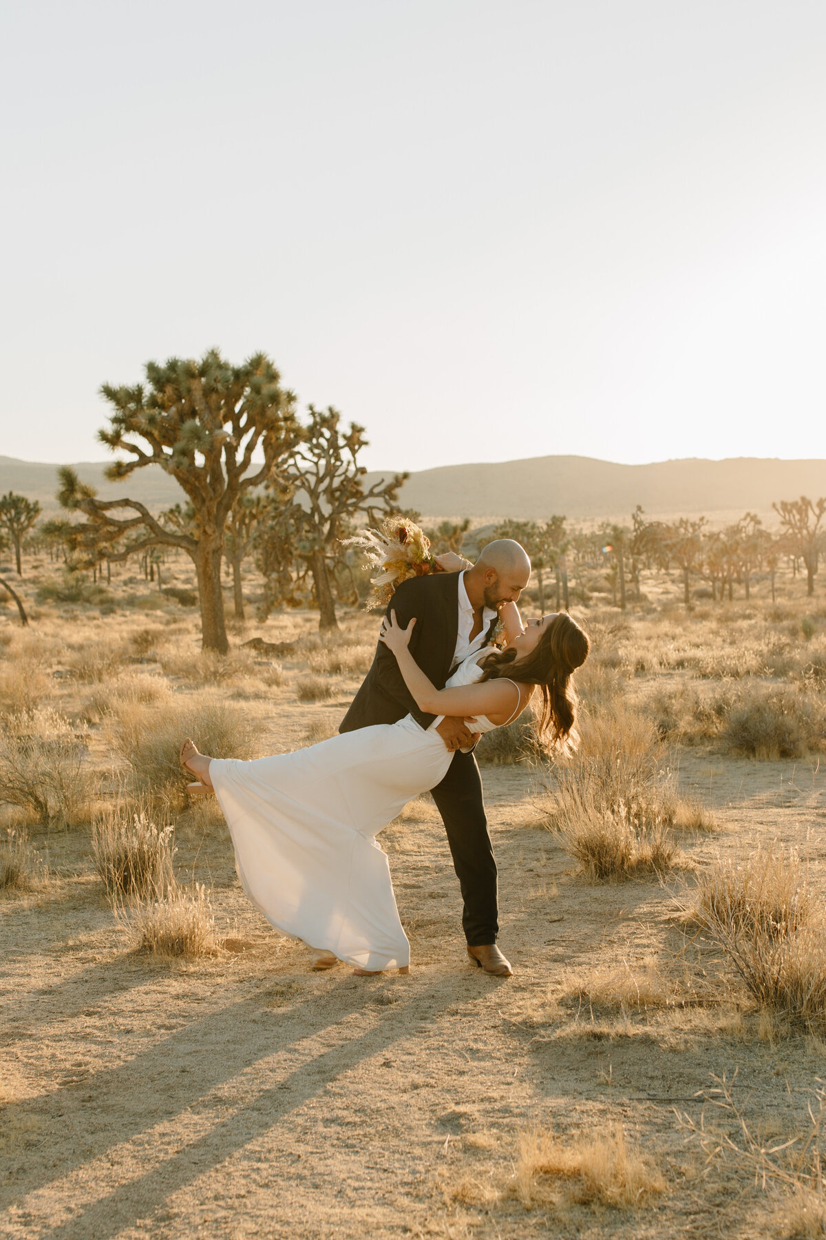 Ashley & Kristian - Joshua Tree National Park Elopement - Tess Laureen Photography @tesslaureen - 124