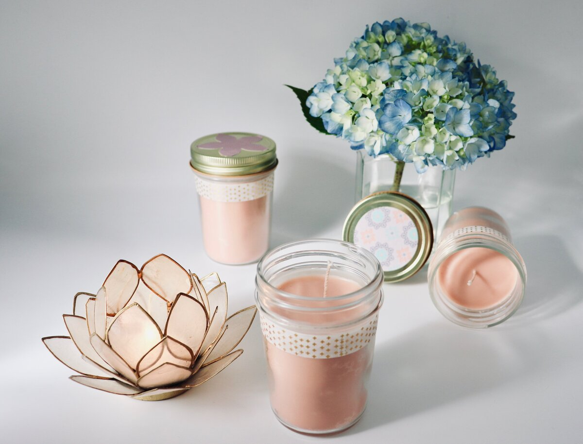 Jelly Jar Candle Trio