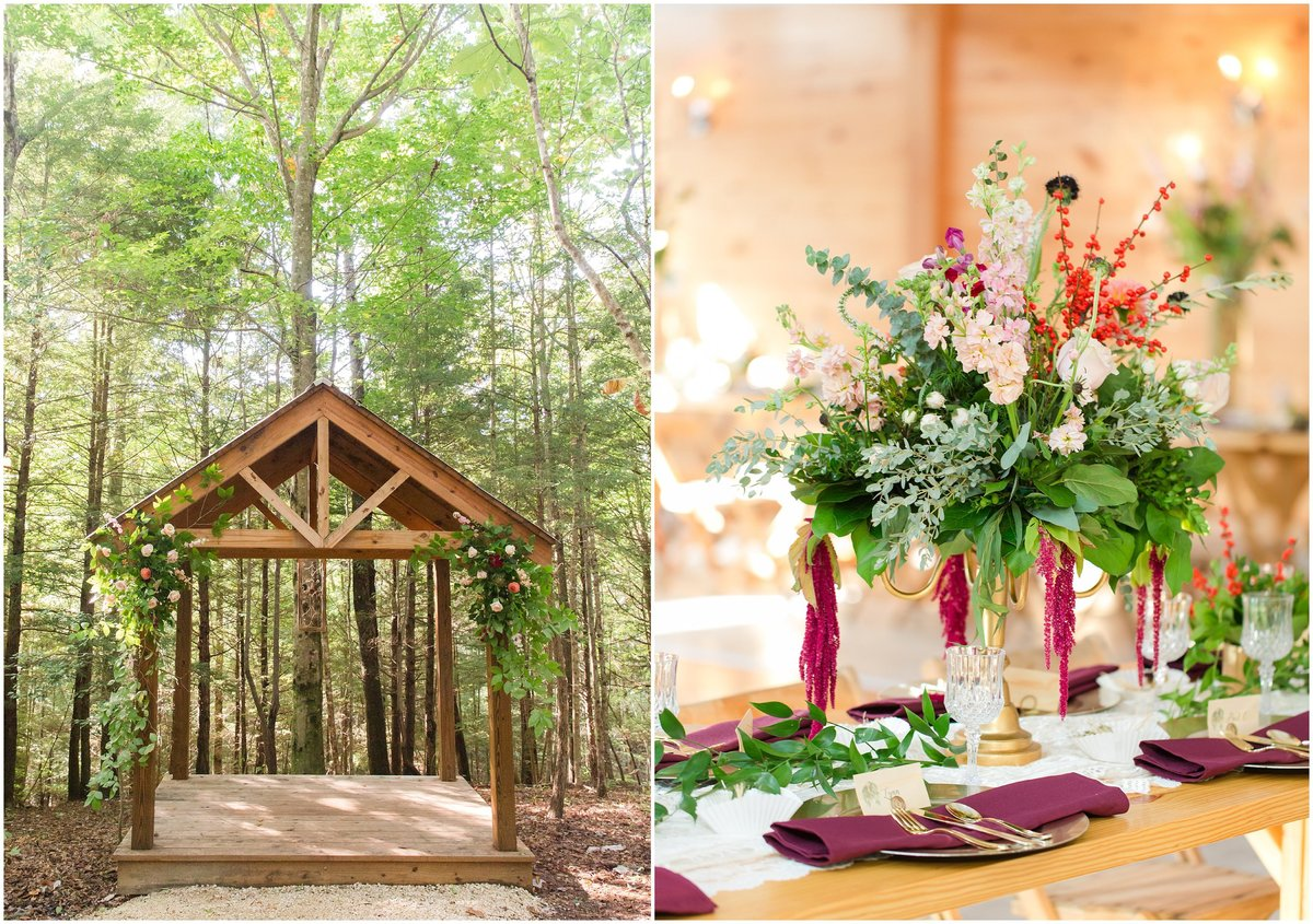 Wedding details at Events at Hemlock Springs Red River Gorge