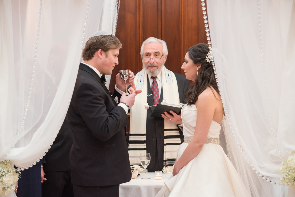 Jewish wedding ceremony at the Bourne Mansion