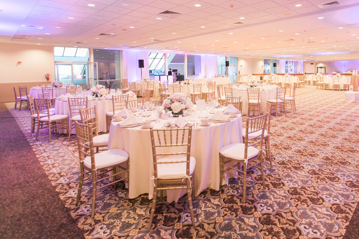 Indoor Wedding Reception Setup