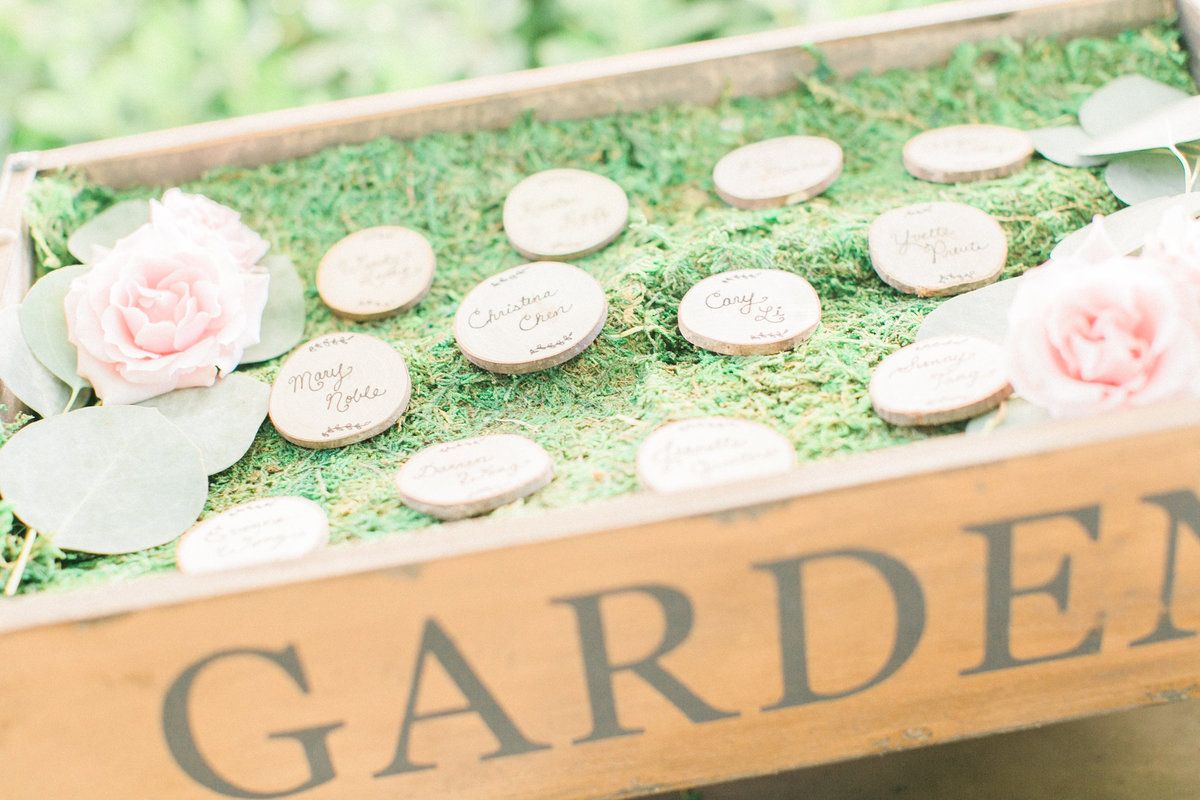 Rustic Wood Escort Cards