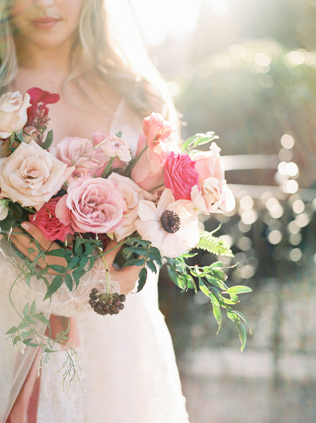 pink bouquet teryn lee photography