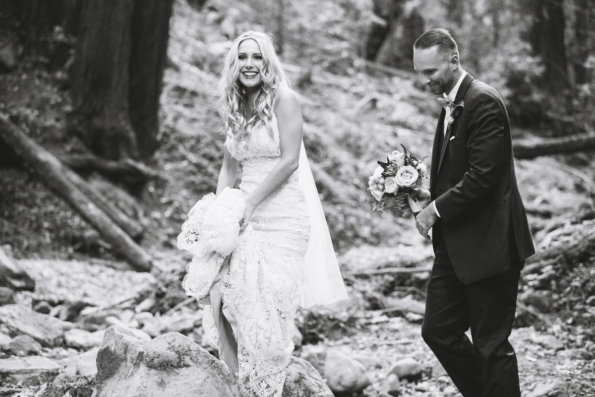 black and white wedding photos Lake Tahoe wedding photographers