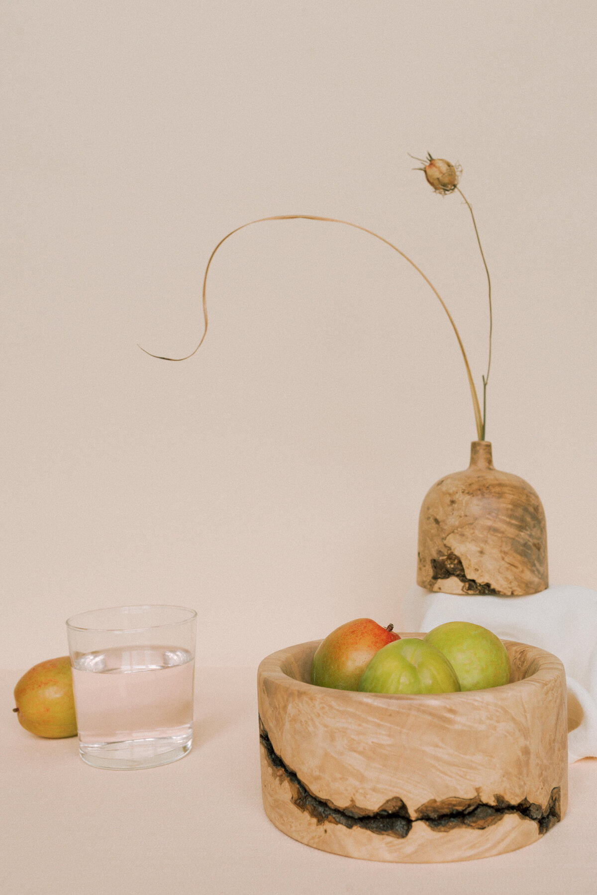 Handcrafted bowls and vase on a table