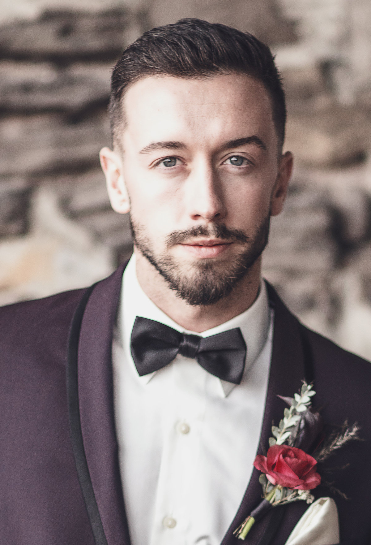 Modern Plum Groom Tux - Wedding Fashion - Verve Event Co (3)