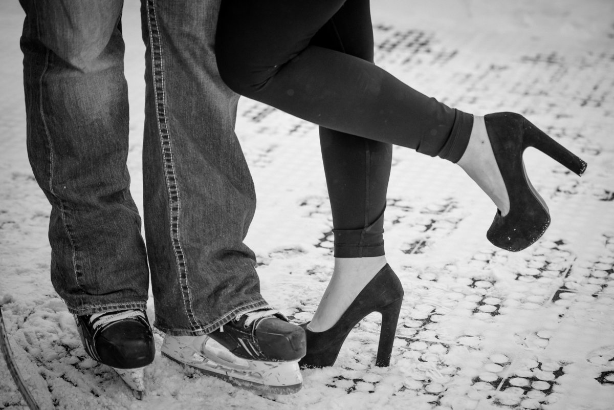 Empire State Plaza, hockey rink, Albany, NY, winter engagement session