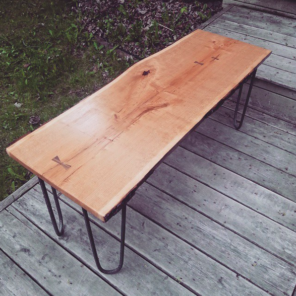 live-edge cherry table