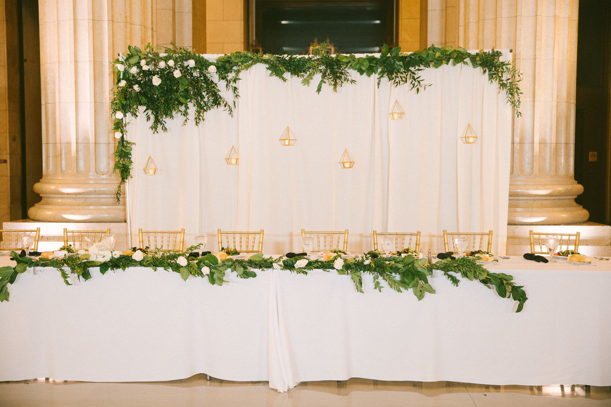 Tablescape designed by  Columbus Ohio wedding planner, Sirpilla Soirees