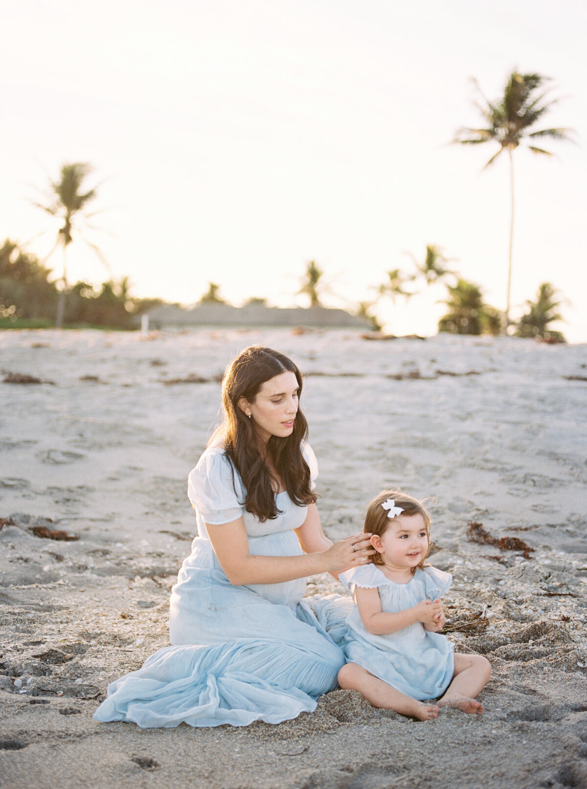 Peachy Sunset High Fashion Family Session Palm Beach Island Organic Timeless Artistic Genuine Photographer-27