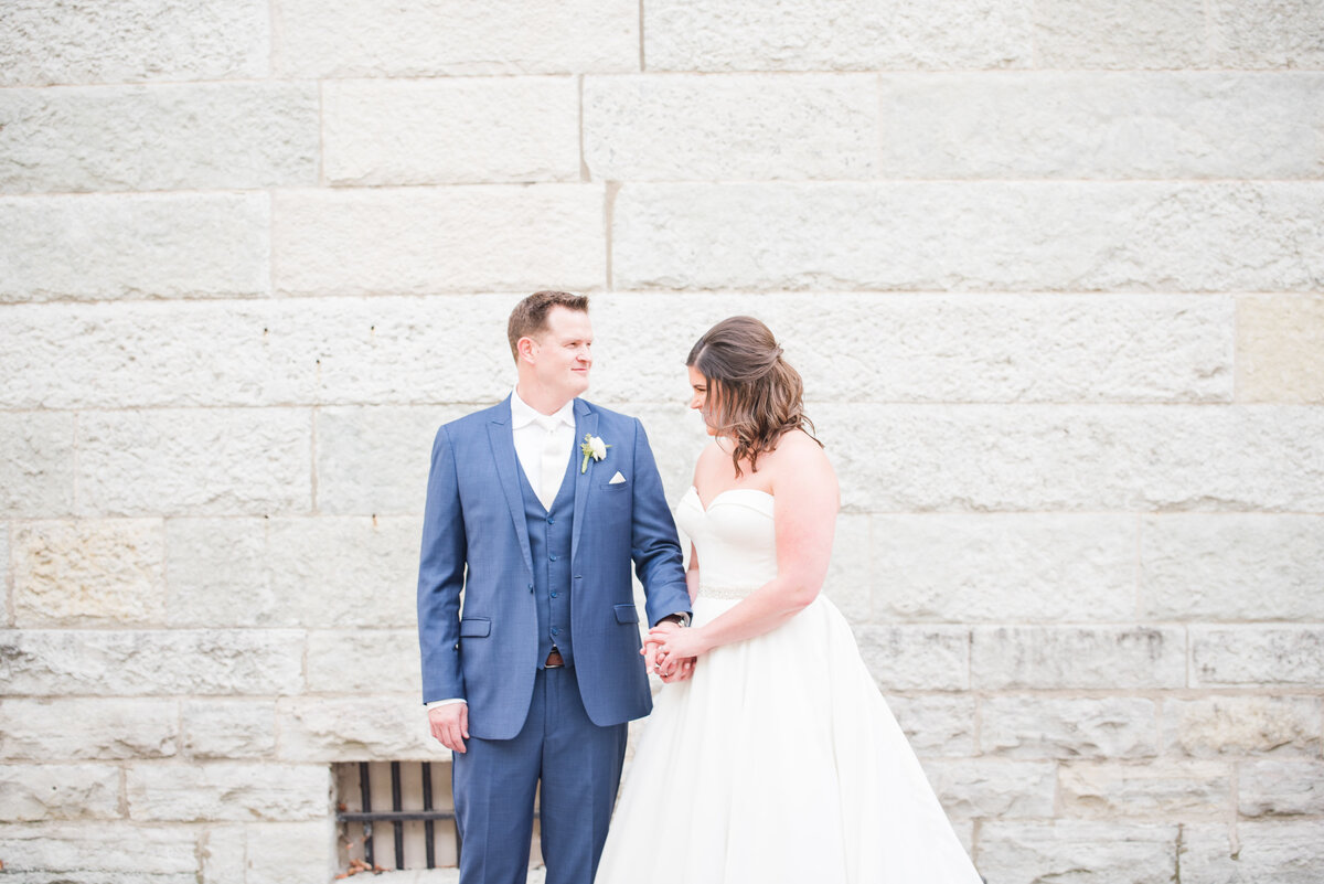 Newlywed Portraits Cait Potter Creative LLC Milltop Potters Bridge Noblesville Square Courthouse Wedding-24