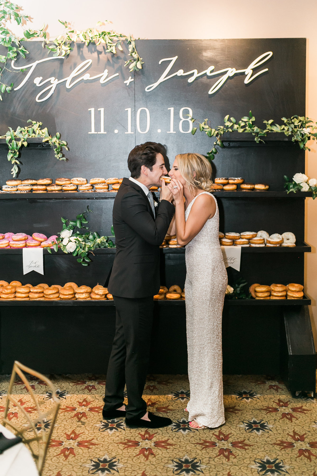 wedding donut wall at Red Rock Country Club in Las Vegas