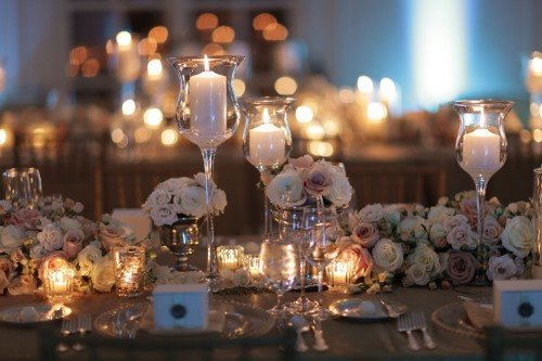 Blush, white and Gold Tablescape floral decor