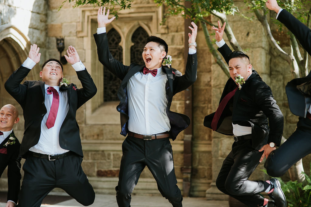 Jumping-Groomsmen-Groom