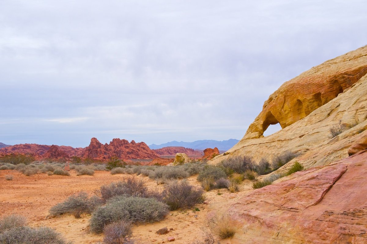 landscape and arch at Valley of Fire Wall Art