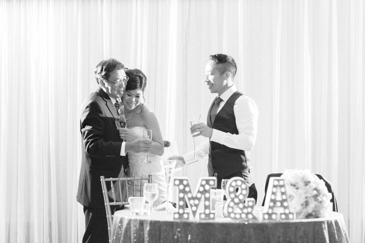 Candid Wedding Reception Moment