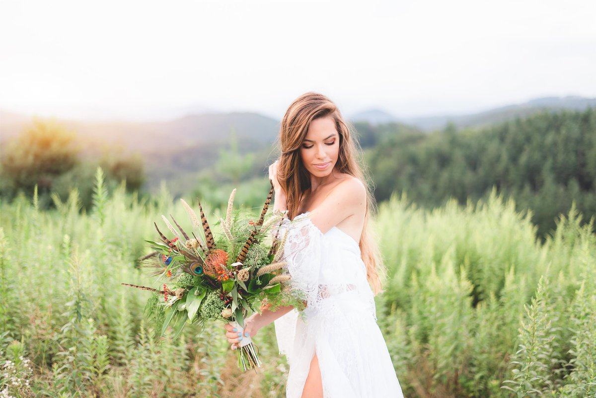wv and nc wedding photographer outdoors mountain beckley wv bridal-15