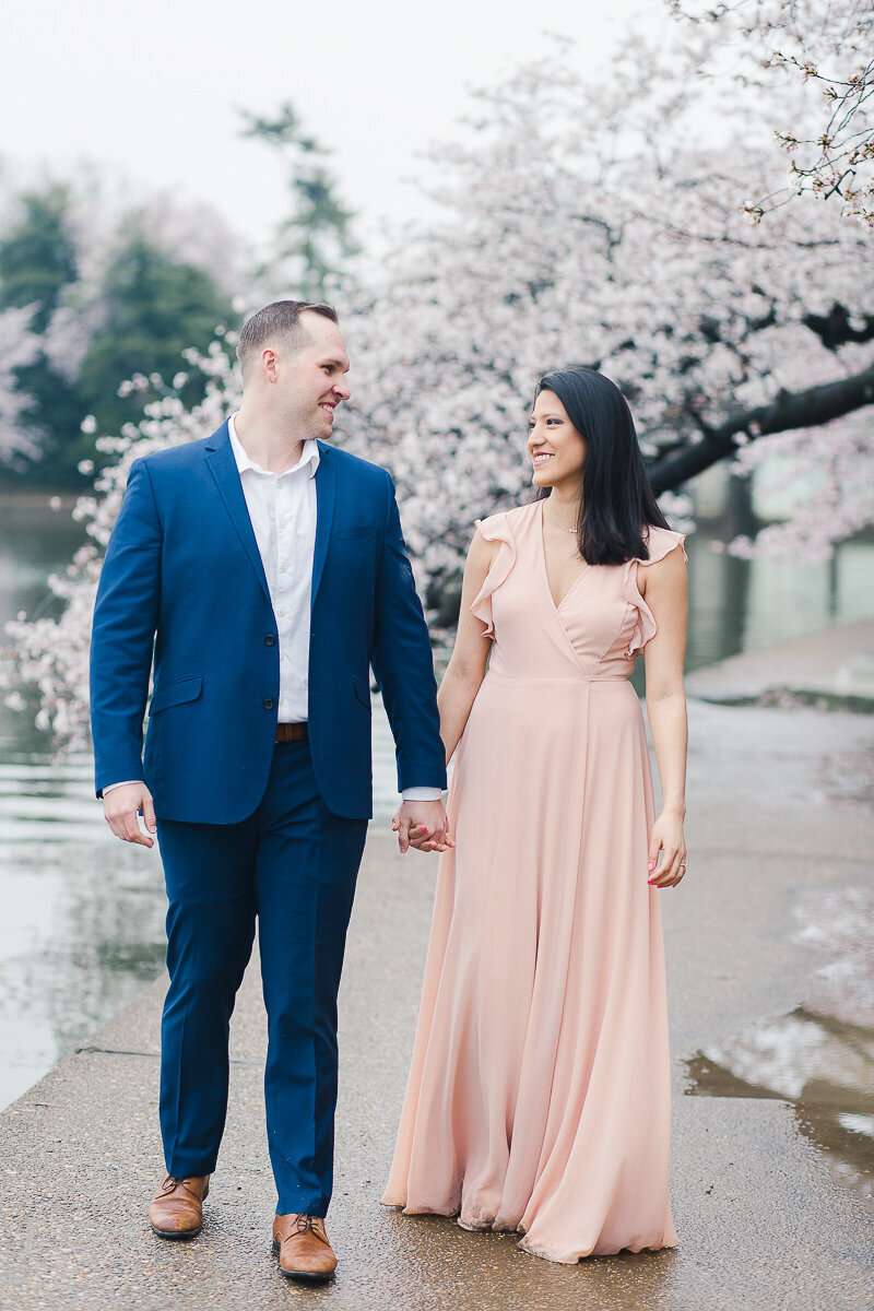 DC Cherry Blossom Engagement Session Photographer