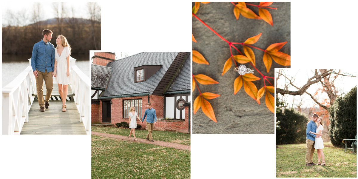 Fall engagement session in the virginia mountains at Gaie Lea wedding venue