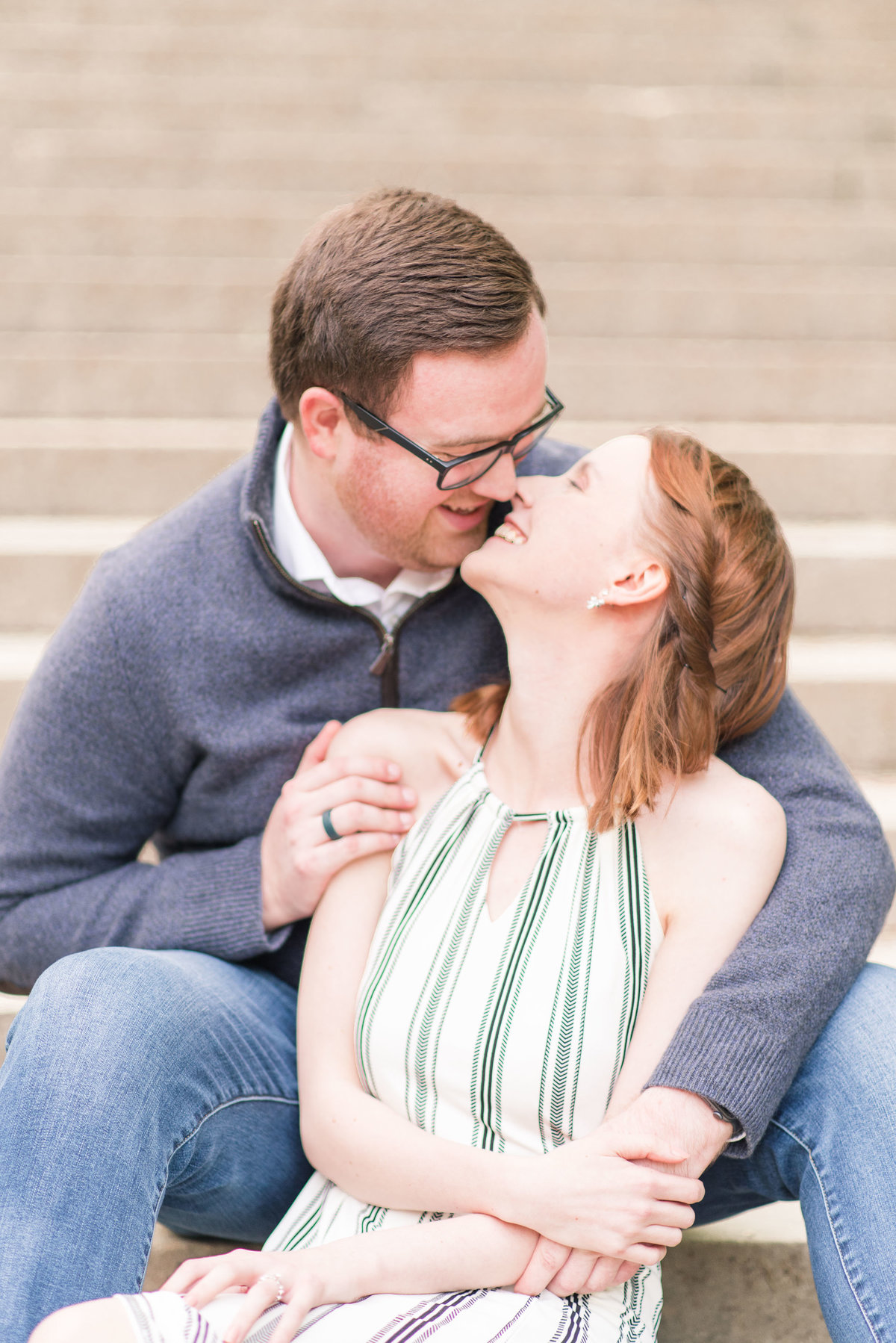 Cait Potter Creative LLC Holcomb Gardens Spring Engagement Photos-10