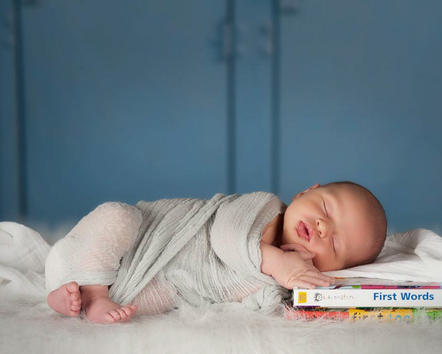 newborn on first words book picture in color
