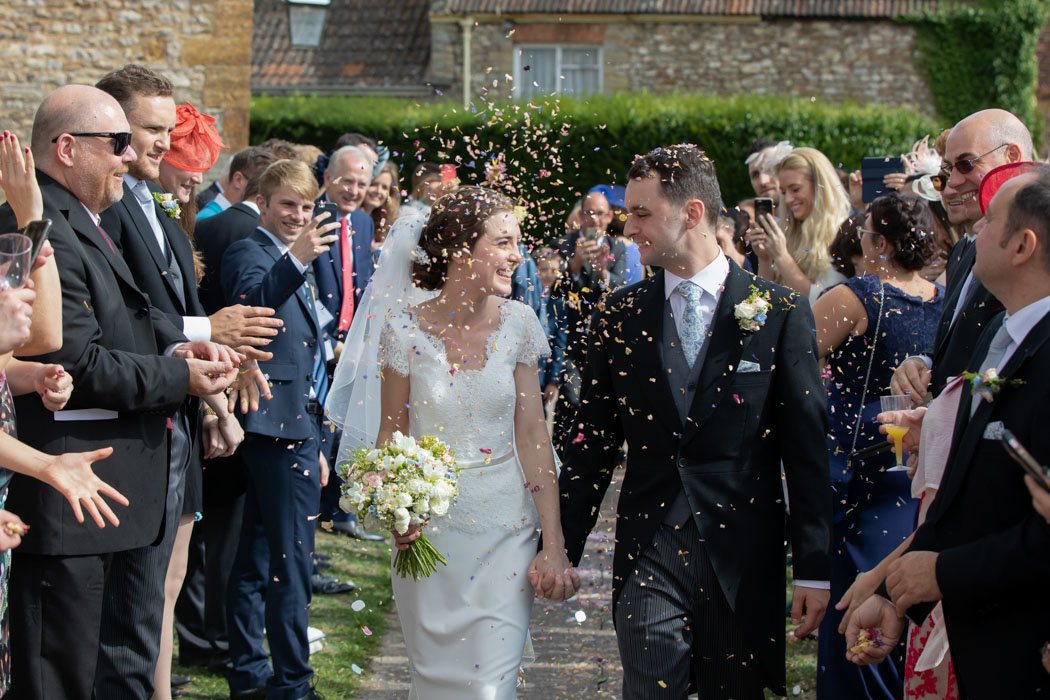 Confetti moment at Hestercombe Gardens Somerset