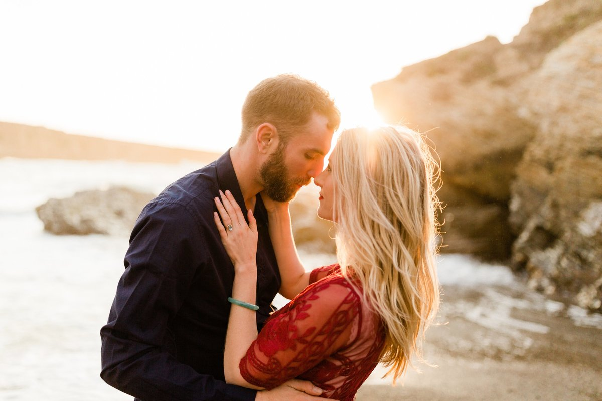 montanan de oro engagement at sunset