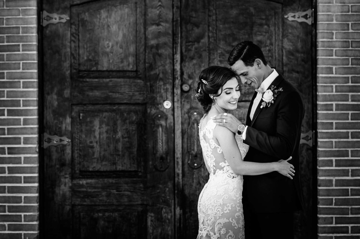 bride and groom at socorro mission  in el paso texas by stephane lemaire photography