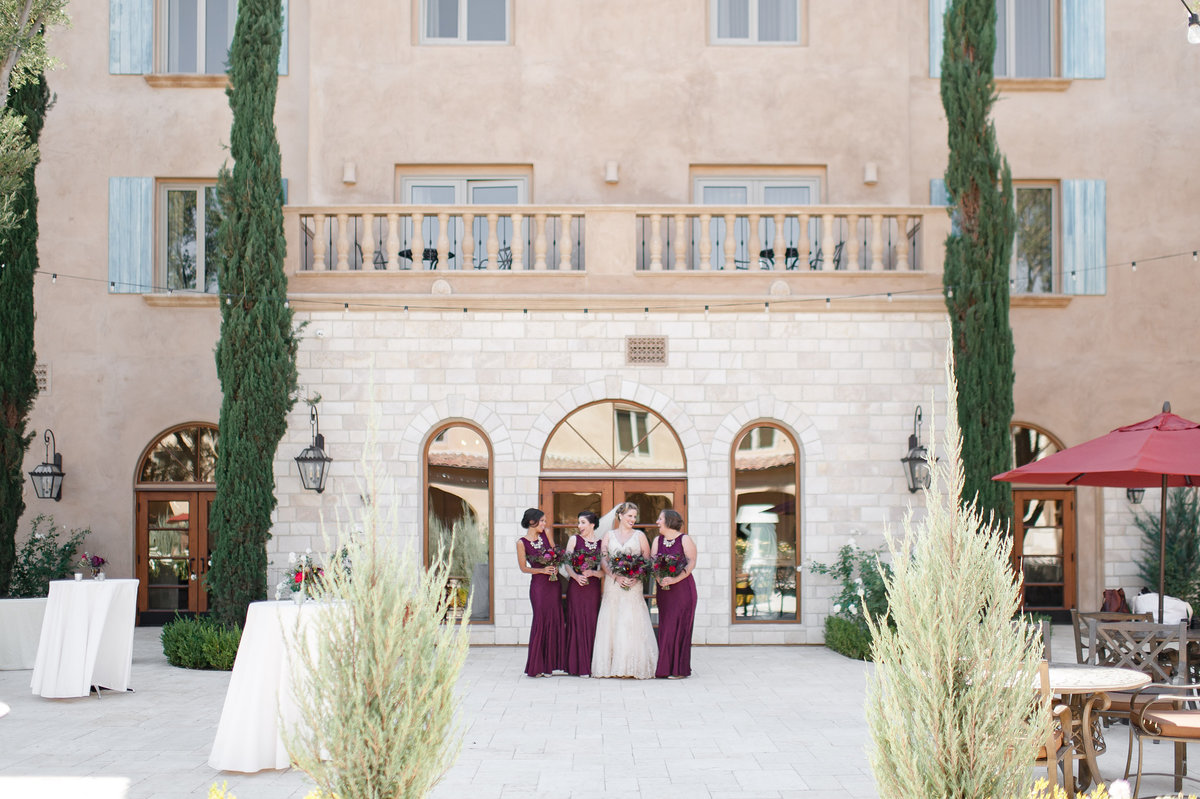 Allegretto Vineyard burgundy wedding