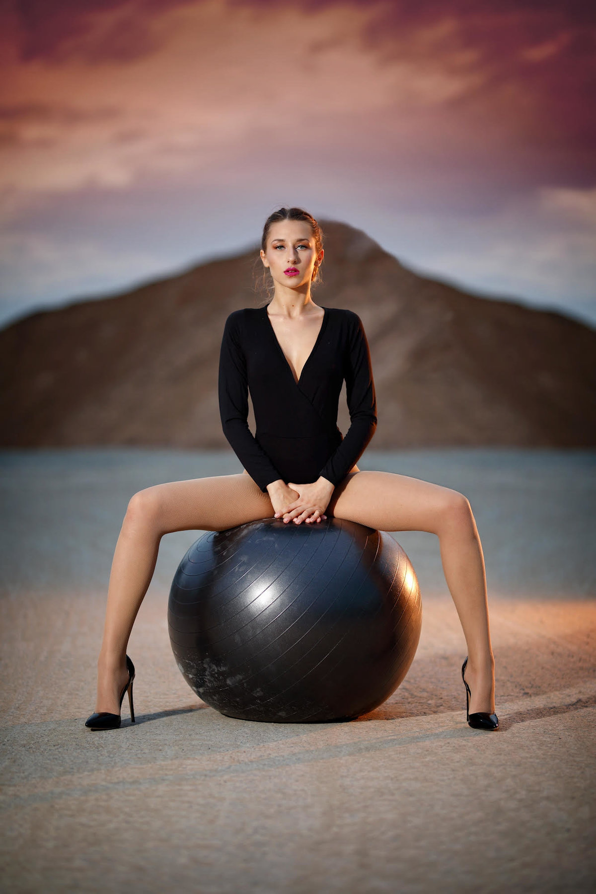 Natalie Setareh Makeup Artist Photoshoot Exercise Ball Kylie