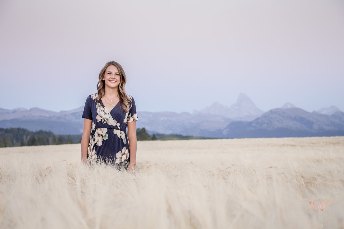 Grand Tetons, Senior portraits, evening view, Tetonia, Idaho