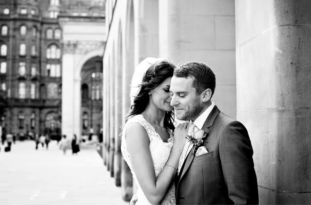 Bride and Groom at Manchester City Library