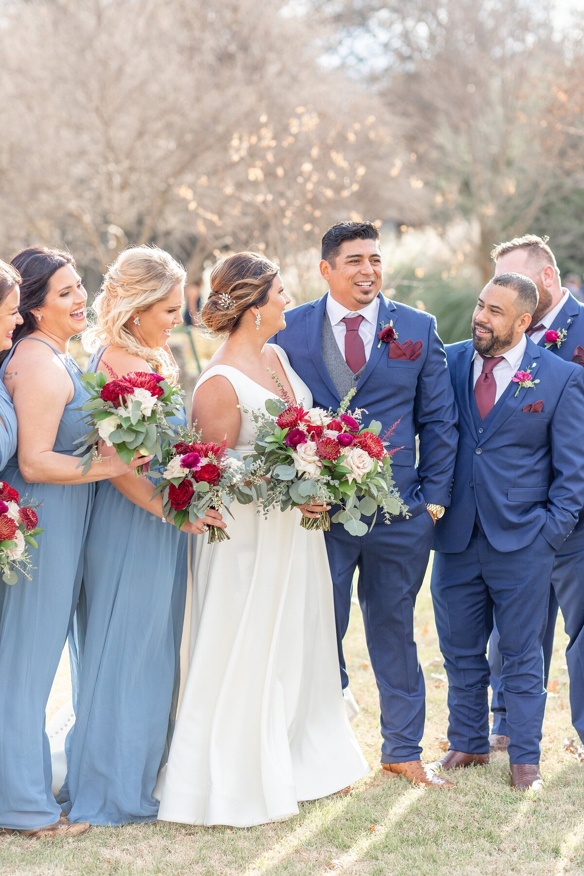 the brooks at weatherford wedding bridal party