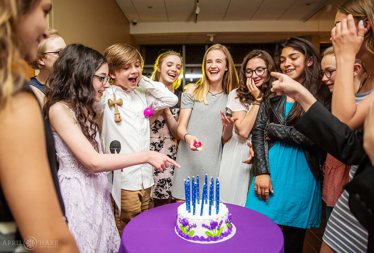 Candle Lighting Ceremony Bat Mitzvah at History Colorado in Denver