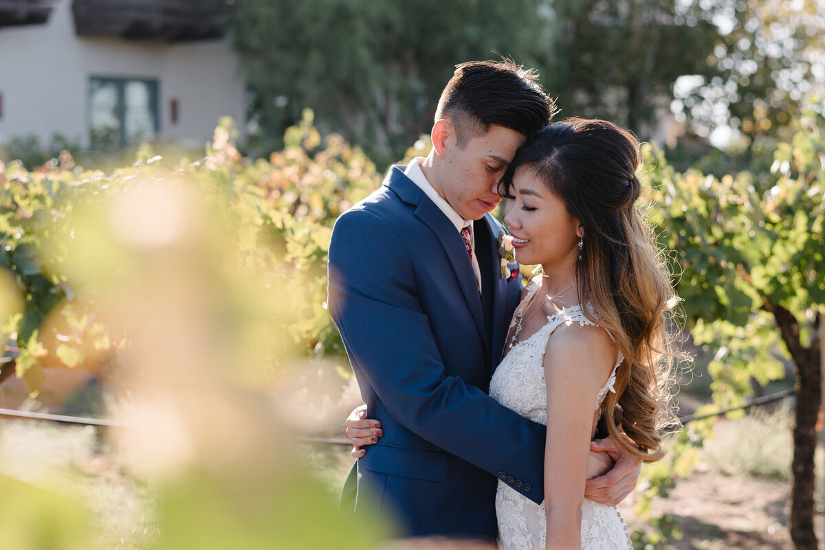 Couple in the vineyard - Ponte Winery Wedding-2018-10-21 Grace Michael Wedding-397