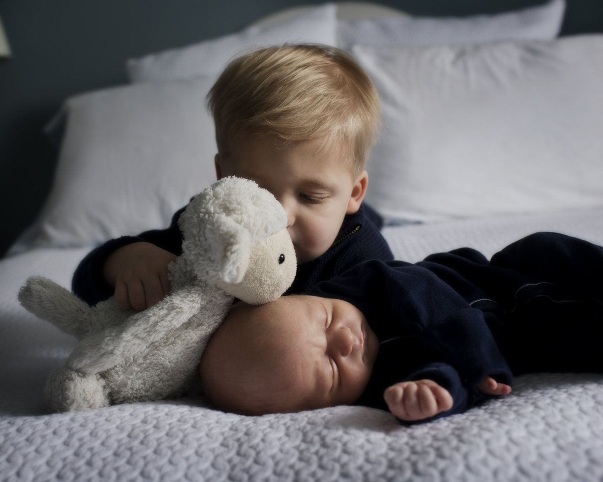 Big Brother with newborn, Lifestyle Newborn Photography