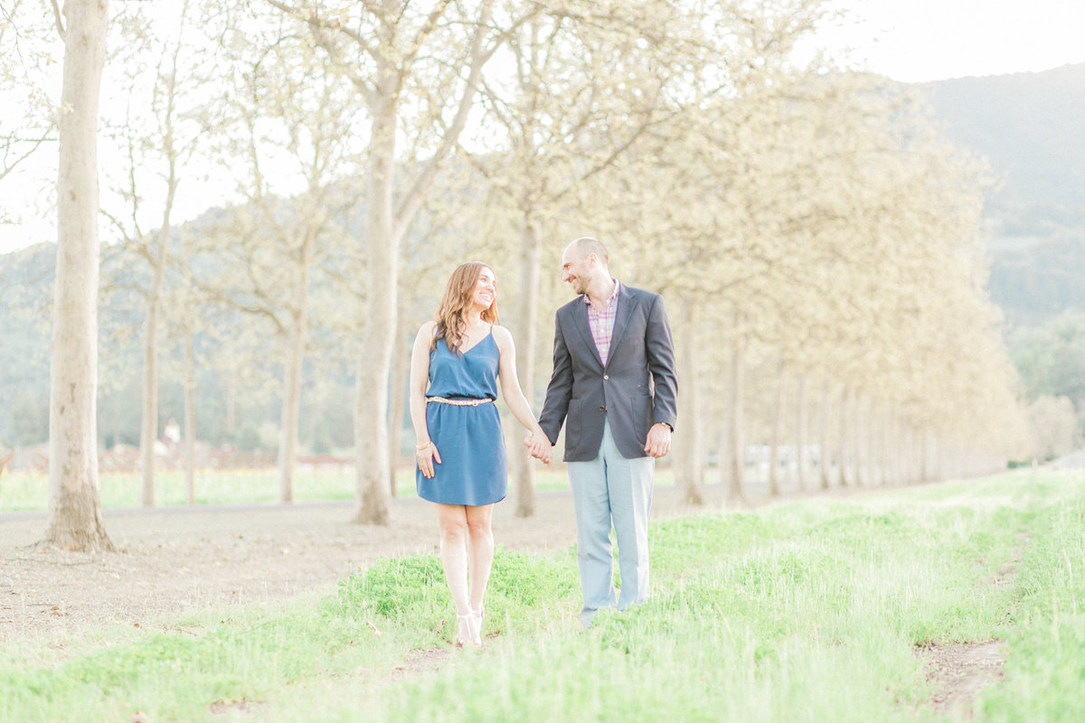 Romantic Napa Garden Engagement Photo