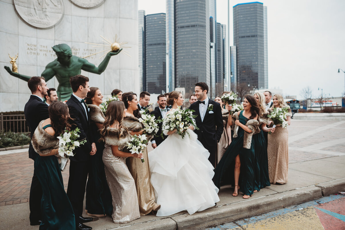 spirit-of-detroit-downtown-detroit-wedding-pictures-city-wedding-pictures-detroit-wedding-photographer-girl-with-the-tattoos-wedding-photographer-michigan-wedding-photographer-wedding-party-pictures