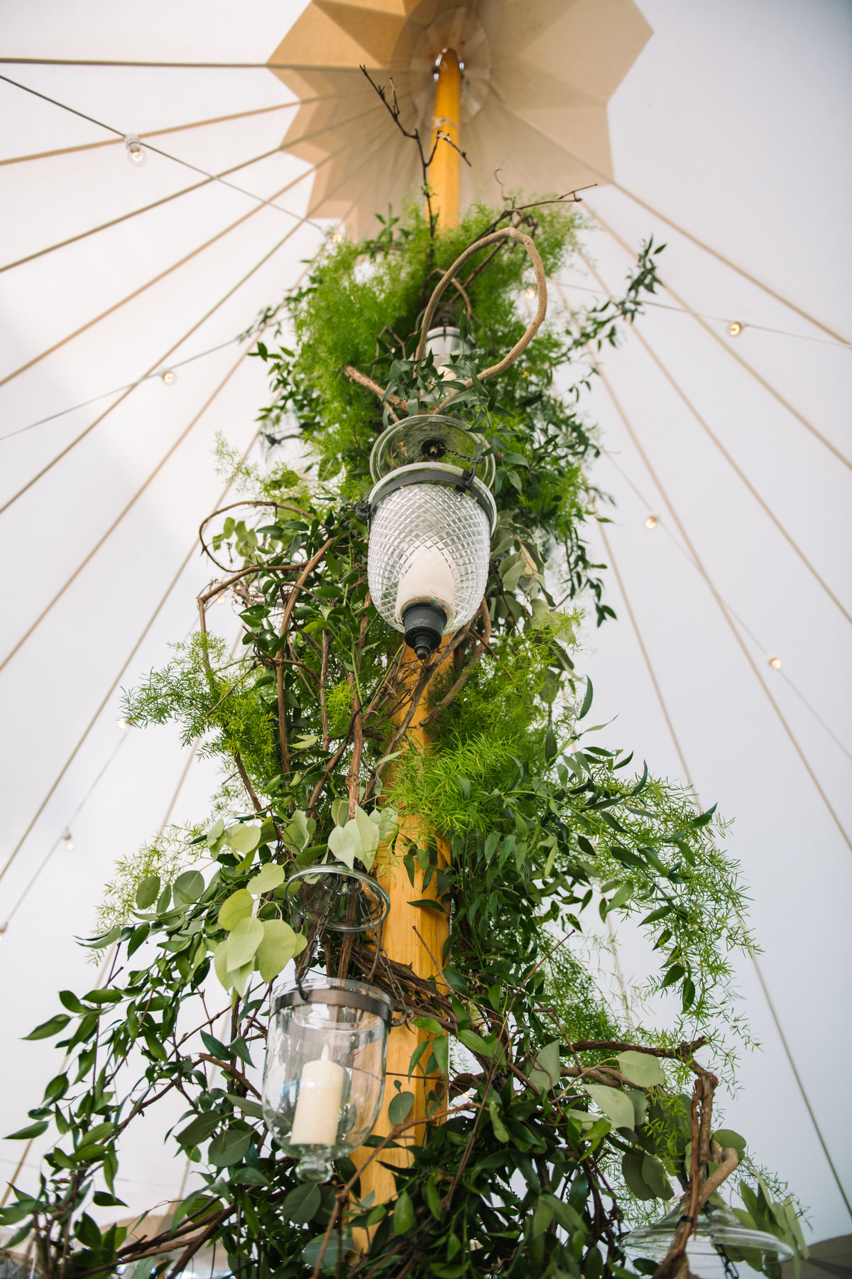Decorated tent pole