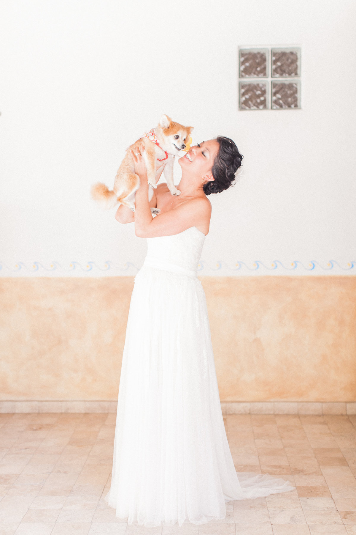 Bride Portrait with Dog