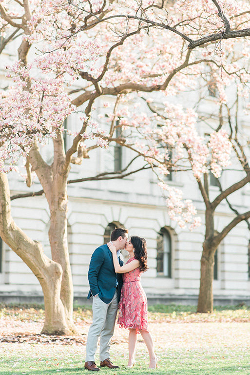 Washington-dc-cherry-blossom-engagement-kiss-photography