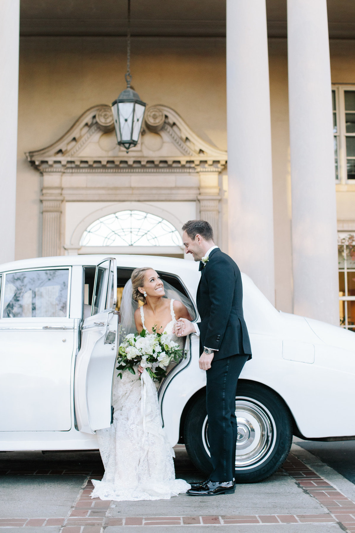 The Biltmore, a Rolls Royce and a bride and groom so deeply in love.  What more could you want?  Says Atlanta's premier wedding photographer Rebecca Cerasani.