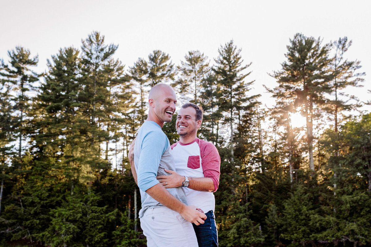Northwoods-Same-Sex-Couple-Engagement-Photographer