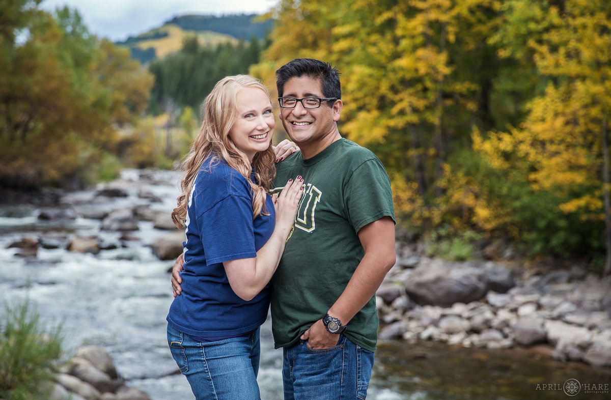 Beaver Creek Engagement Photography in the fall in Colorado